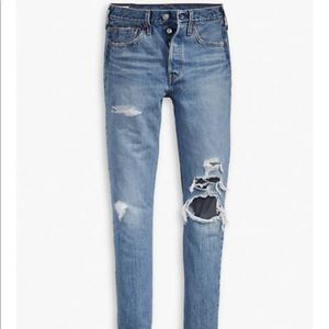 Levi's 501 Skinny Distressed Jeans